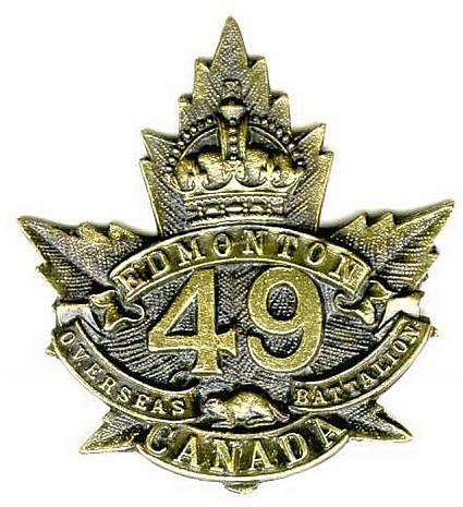 49th Battalion badge
